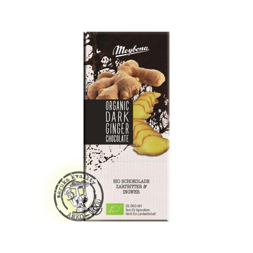 Bio čokoláda hořká zázvor 100g Meybona