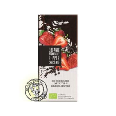Bio čokoláda jahoda - pepř  100g Meybona