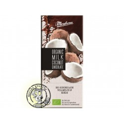 Bio čokoláda mléčná kokos  100g Meybona