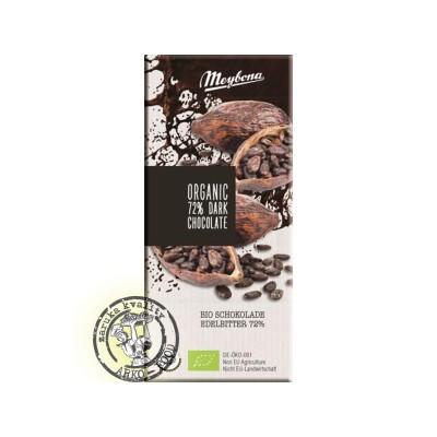 Bio čokoláda hořká 72%  100g Meybona