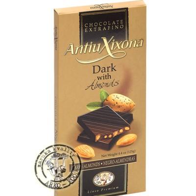 Hořká čokoláda s mandlemi 125 g