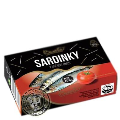 Sardinky v rajčatové omáčce 125g