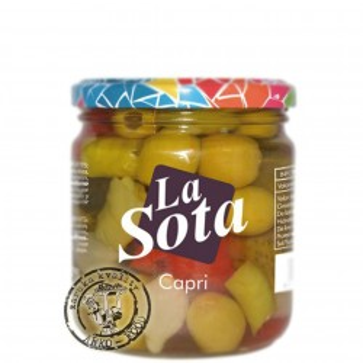 Capri - olivovo-zeleninový koktejl v slano-kyselém nálevu 340 g