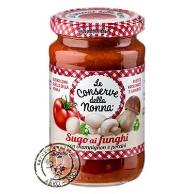 Le Conserve della nonna - Rajčatova omáčka s houbami 350g