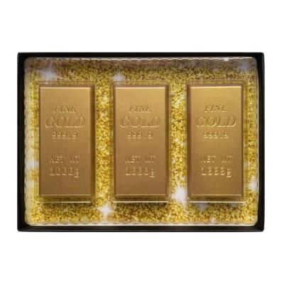 """Dárkové balení mléčné čokolády """"zlaté cihličky"""" 75g WE"""