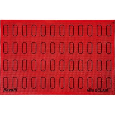 Forma silikonová perforovaná (48 ks mini eclairs) tvar: 6x1,8cm