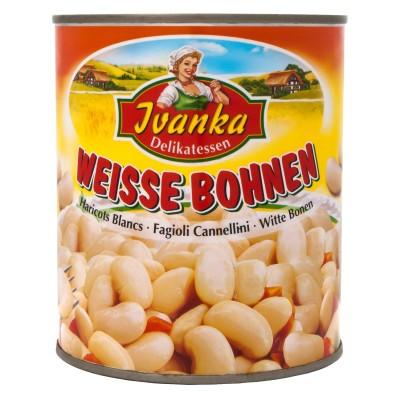 Bílé fazole 800g Ivanka