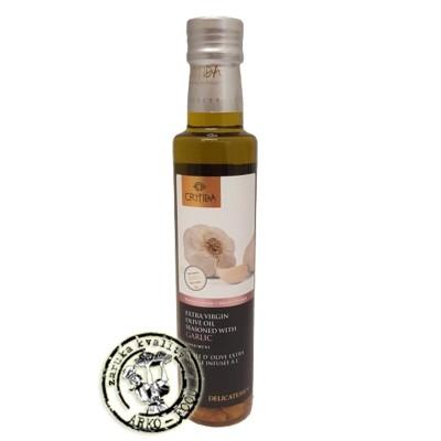 Olivový olej Extra panenský ochucený s česnekem - 250ml