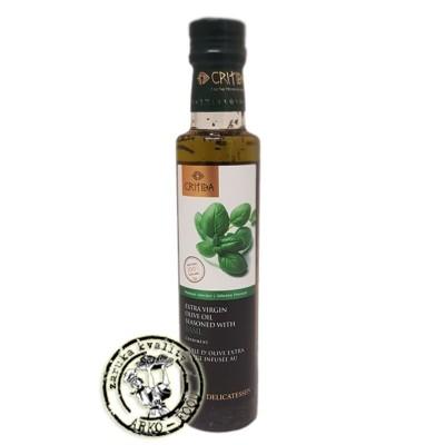 Olivový olej Extra panenský s bazalkou - 250ml