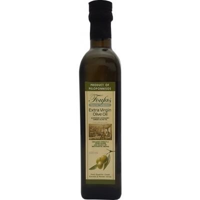 Extra panenský (Extra Virgin) olivový olej Foufas 500ml hranatá láhev
