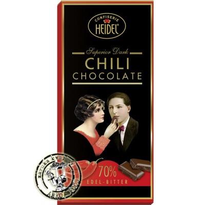 Heidel čokoláda hořká 70% Chilli 100g