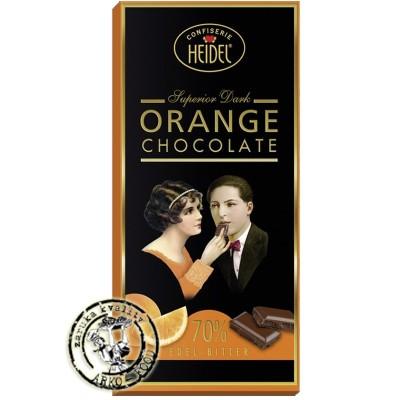 Heidel hořká čokoláda 70% pomeranč 100g