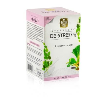 """Čaj """"De-stress"""" Ayurvéda - směs zeleného řaje 25x2g McCoy"""