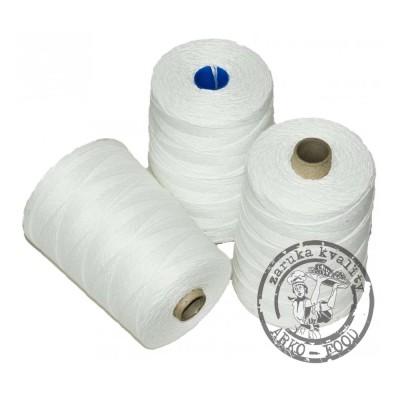 Provázek řeznický číslo 6 bílý lněný bělený 500 g