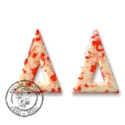 Blizzard trojúhelník - bílá/červená - 135 ks