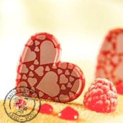 Srdce - kombinace červená/bílá - 84 ks - NEW!