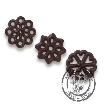 Dekor - decorettes ind. směs - filigran květina (Ø 33 mm)